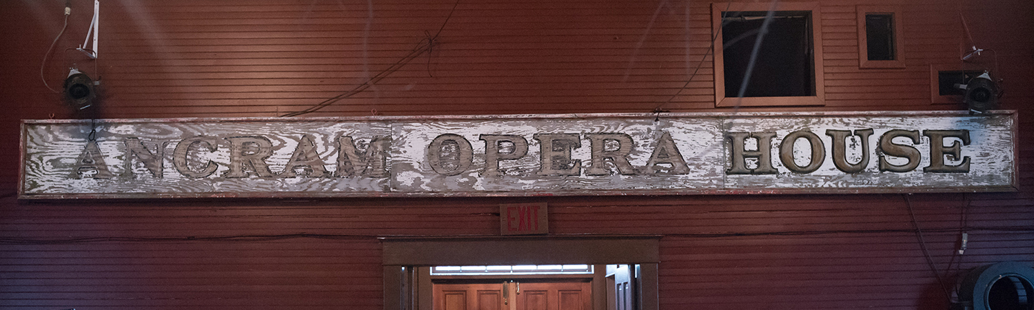 Ancram Opera House sign